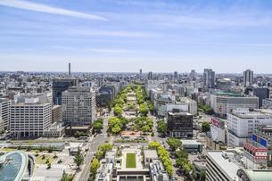 ヒサヤオオドオリパーク越しに名古屋市南部方面を望むの写真素材 [FYI04880314]