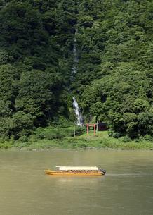最上川舟下りと白糸の滝の写真素材 [FYI04880974]