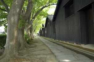 酒田 山居倉庫風景の写真素材 [FYI04881929]