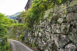 初夏の石垣の村 戸川の写真素材 [FYI04882365]