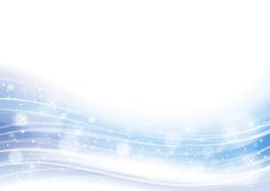 幻想的な光の背景 青のイラスト素材 [FYI04882810]