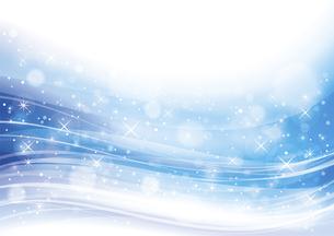幻想的な光の背景 青のイラスト素材 [FYI04882812]