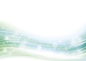 幻想的な光の背景 緑のイラスト素材 [FYI04882816]