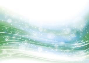 幻想的な光の背景 緑のイラスト素材 [FYI04882818]