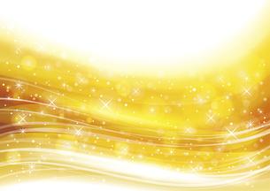 幻想的な光の背景 金色のイラスト素材 [FYI04882821]