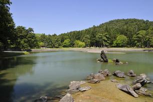 毛越寺 庭園風景の写真素材 [FYI04883588]
