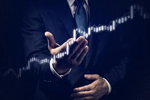 ビジネスイメージ 株式チャートの写真素材 [FYI04884925]