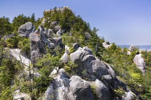 湖南アルプス(金勝アルプス)の天狗岩の写真素材 [FYI04885554]