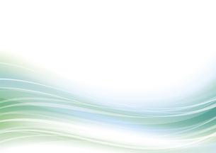 ウェーブアブストラクト背景 緑のイラスト素材 [FYI04885967]