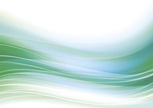ウェーブアブストラクト背景 緑のイラスト素材 [FYI04885969]