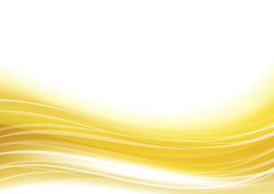 ウェーブアブストラクト背景 金色のイラスト素材 [FYI04885970]