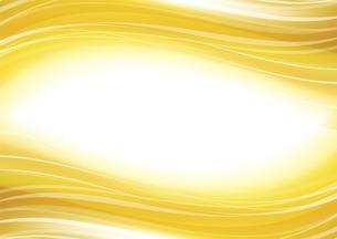 ウェーブアブストラクト背景 金色のイラスト素材 [FYI04885971]