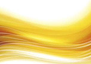 ウェーブアブストラクト背景 金色のイラスト素材 [FYI04885972]