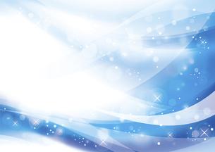 ウェーブと光のアブストラクト背景 青のイラスト素材 [FYI04885973]