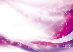 ウェーブと光のアブストラクト背景 ピンクのイラスト素材 [FYI04885974]