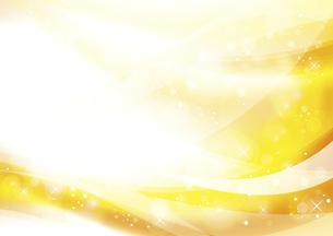 ウェーブと光のアブストラクト背景 黄色のイラスト素材 [FYI04885975]