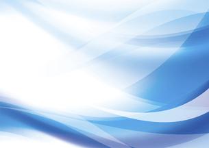 ウェーブと光のアブストラクト背景 青のイラスト素材 [FYI04885976]
