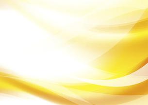 ウェーブと光のアブストラクト背景 黄色のイラスト素材 [FYI04885978]