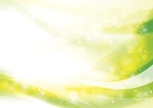 ウェーブと光のアブストラクト背景 緑のイラスト素材 [FYI04885979]