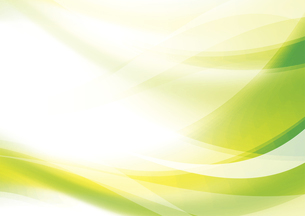 ウェーブと光のアブストラクト背景 緑のイラスト素材 [FYI04885980]