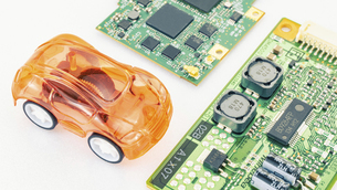 【EV】自動車と半導体 テクノロジーの写真素材 [FYI04886051]