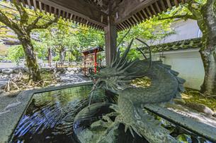 伊豆修禅寺 境内にある温泉の湧き出る水屋の写真素材 [FYI04886118]