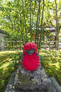 伊豆修禅寺 境内に点在する個性的な地蔵の写真素材 [FYI04886128]