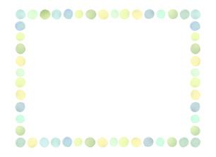 水彩の水玉フレームのイラスト素材 [FYI04886259]