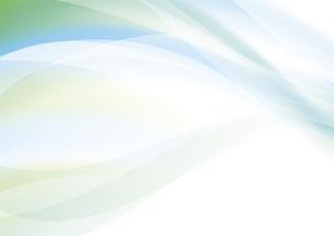 グリーンのウェーブ 抽象的な背景のイラスト素材 [FYI04886560]