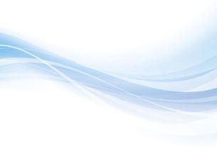 なめらかな波のイメージのイラスト素材 [FYI04886565]