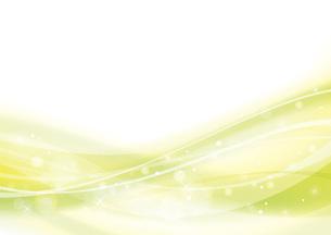 黄緑のウェーブ 抽象的な背景のイラスト素材 [FYI04886569]