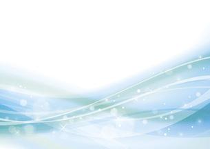 青のウェーブ 抽象的な背景のイラスト素材 [FYI04886571]