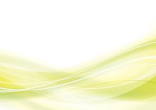 黄緑のウェーブ 抽象的な背景のイラスト素材 [FYI04886573]
