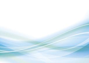 青のウェーブ 抽象的な背景のイラスト素材 [FYI04886575]