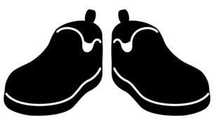 カジュアルシューズの白黒イラストのイラスト素材 [FYI04887427]