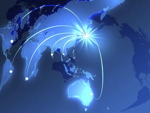 世界貿易 世界地図 日本地図 グローバル経済 日本貿易 のイラスト素材 [FYI04887535]