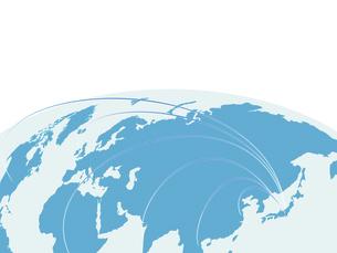グローバル経済 世界地図 日本地図 ビジネス背景 地図 世界貿易のイラスト素材 [FYI04887537]