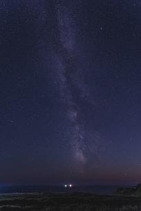 礼文島から見える6月の天の川の写真素材 [FYI04887538]