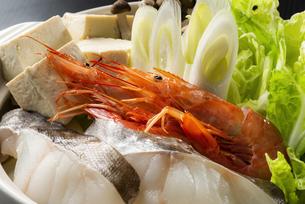 海鮮鍋の具の写真素材 [FYI04887901]
