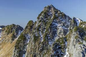 和合山から眺める初冬の宝剣岳の写真素材 [FYI04888048]