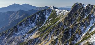 和合山からサギダルの頭と極楽平の島田娘以降南陵を眺めるの写真素材 [FYI04888050]
