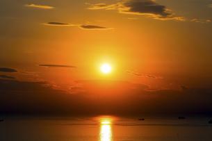 夕陽の写真素材 [FYI04888223]