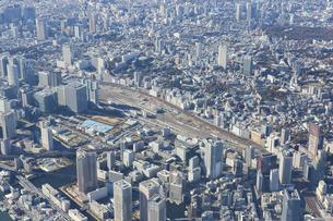 空撮・山手線新駅の予定地(撮影=2017年12月)の写真素材 [FYI04888242]