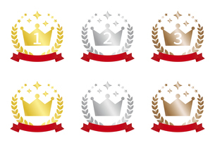 王冠のランキングアイコンセットのイラスト素材 [FYI04888262]