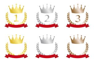 王冠のランキングアイコンセットのイラスト素材 [FYI04888266]