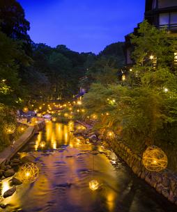 熊本県 風景 黒川温泉 湯あかりの写真素材 [FYI04888337]