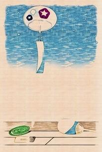 風鈴 夏の風物詩のイラスト素材 [FYI04888357]
