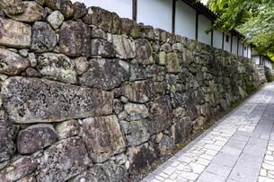穴太衆積みの石垣の写真素材 [FYI04888824]