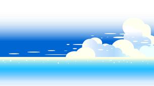 青い海と夏空の積乱雲16対9の画面のイラスト素材 [FYI04889166]