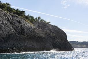 玄武岩の柱状節理の写真素材 [FYI04889334]